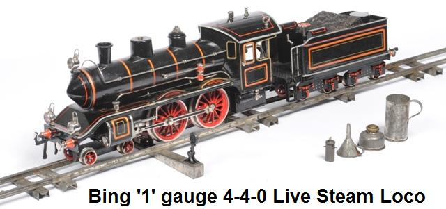 Bing 4-4-0 Live Steam in gauge 1