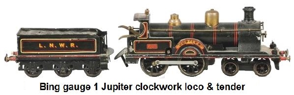 Bing Gauge 1 Jupiter Train Locomotive & Tender