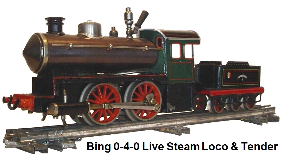A Bing Steam Outline Loco & tender