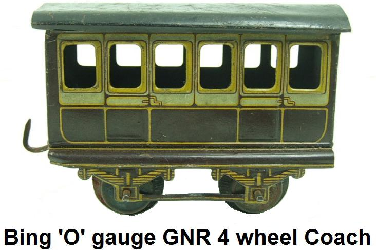 Bing 'O' gauge GNR 4 wheel passenger Coach