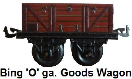 Bing '0' gauge open goods wagon circa 1909-1932