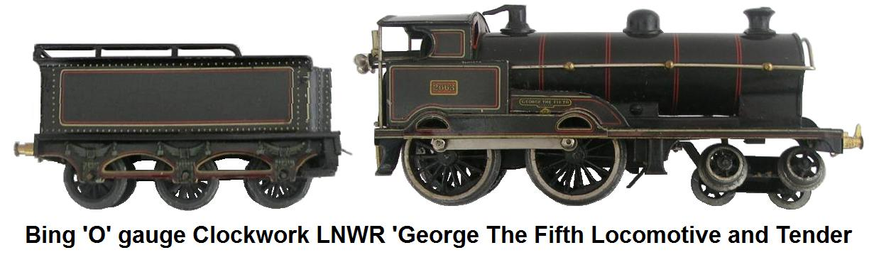 Bing 'O' gauge Clockwork LNWR George The Fifth Locomotive and Tender