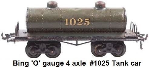 Bing '0' gauge Swift Refrigeration Line Swift Hams Wagon and Bing 'O' Gauge 4 Axle Tank Car #1025