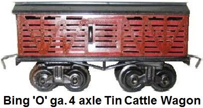 Bing 'O' gauge Dump Car and Cattle Wagon