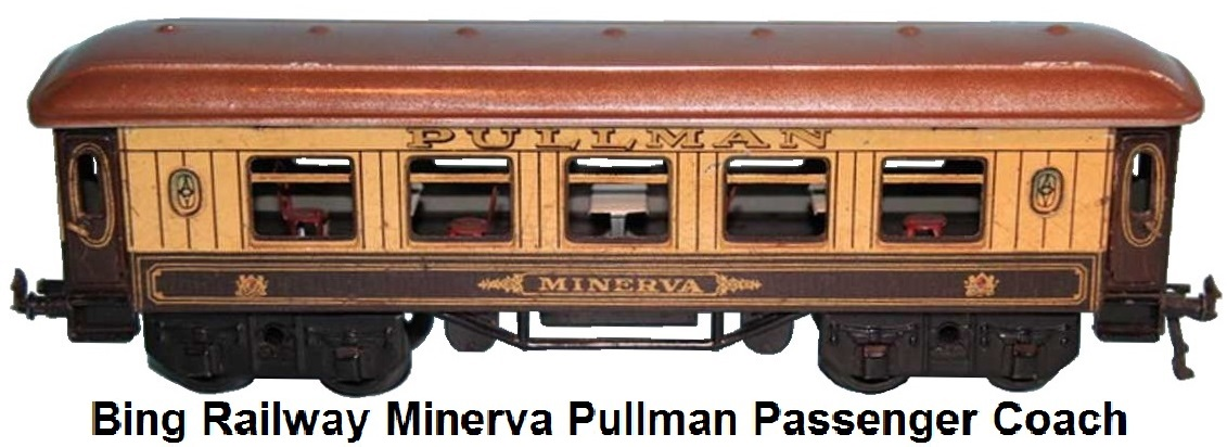 Bing Railway Minerva Pullman Passenger car with internal seating