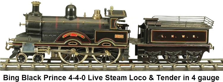 Bing Black Prince Live Steam in gauge 4