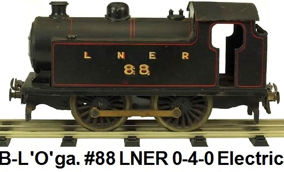 Bassett-Lowke #88 LNER 0-4-0 Tank electric in 'O' gauge