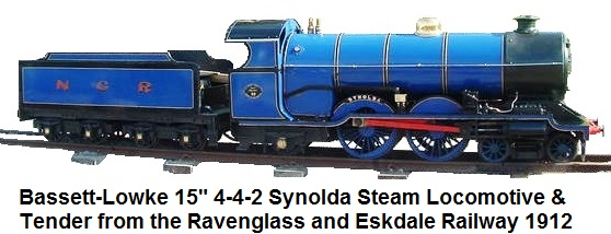 Bassett-Lowke built Class 30 4-4-2 Synolda Steam Locomotive built 1912 from the Ravenglass and Eskdale Railway