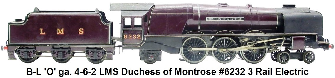 Bassett-Lowke Duchess of Montrose LMS 4-6-2 loco & tender in 'O' gauge