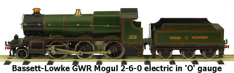 Bassett-Lowke GWR Mogul 2-6-0 electric in 'O' gauge