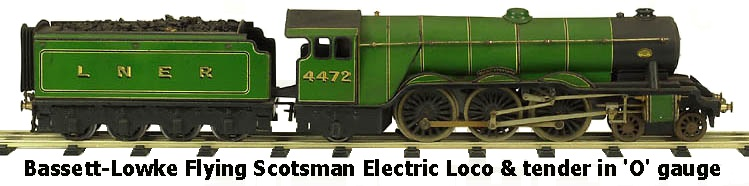 Bassett-Lowke Flying Scotsman 4-6-2 Electric Loco & tender in 'O' gauge