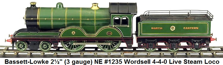 Bassett-Lowke NE Wordsell 4-4-0 Steam loco & tender in 2� gauge