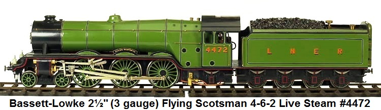 Bassett-Lowke Flying Scotsman 4-6-0 Steam Loco & tender in 2� gauge