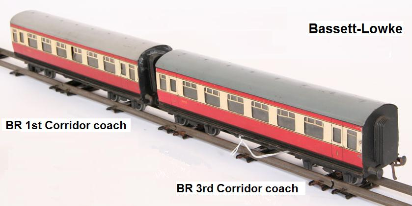 Bassett-Lowke BR 'O' gauge 1st and 3rd Coaches
