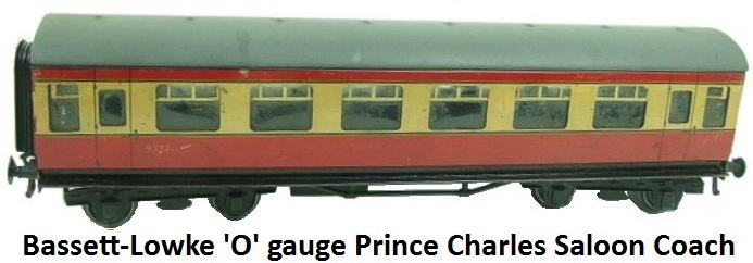 Bassett-Lowke BR Prince Charles Saloon Passenger coach in 'O' gauge