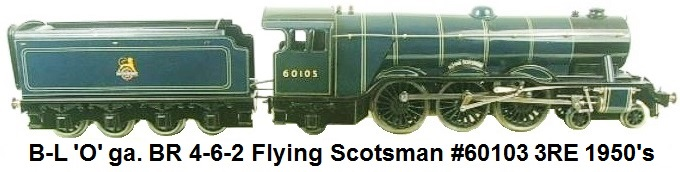 Bassett-Lowke Flying Scotsman in BR blue circa 1950's