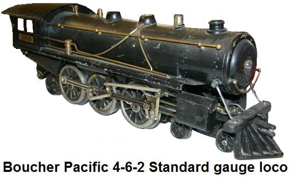 Boucher #2500 Pacific 4-6-2 standard gauge locomotive