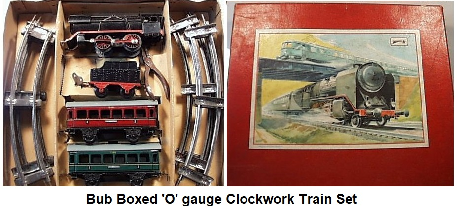 Boxed Bub Train Set from the 1930's