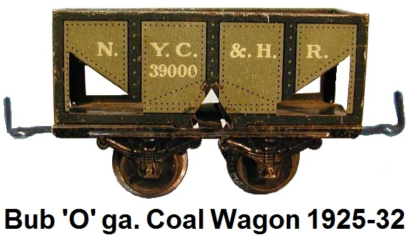 Bub 'O' gauge coal wagon with operating trap doors made 1925-32
