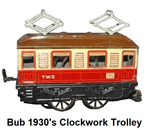 Bub 1930's 0-4-0 clockwork trolley