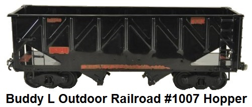 Buddy L #1007 3¼ inch Outdoor Railroad bottom Hopper car