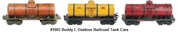 Buddy L #1003 3¼ inch gauge Outdoor Railroad tank cars