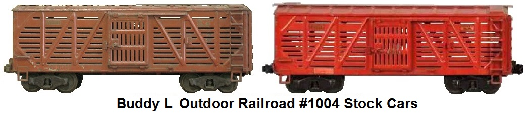 Buddy L #1004 3¼ inch Outdoor Railroad Stock Cars