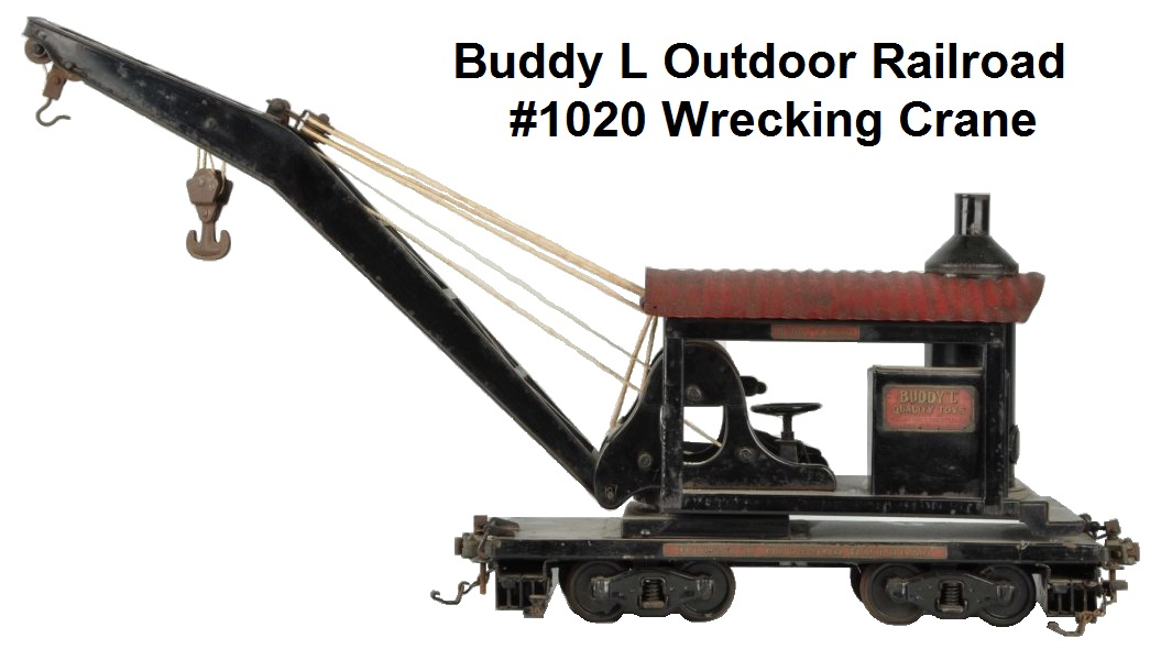 Buddy L #1020 3¼ inch gauge Outdoor Railroad wrecking crane
