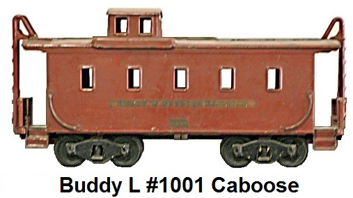 Buddy L #1001 3¼ inch Outdoor Railroad red caboose