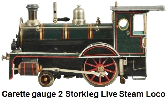 Carette gauge 2 Storkleg live steam locomotive