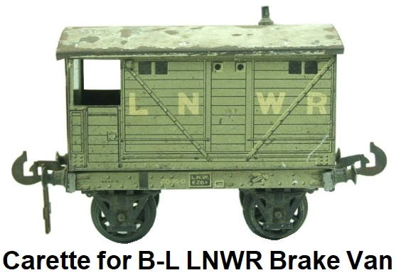 Carette for Bassett-Lowke LNWR Brake Van