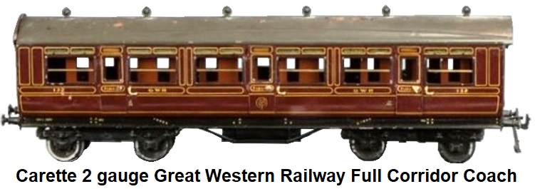 Carette 2 gauge Great Western Railway Full Corridor Coach
