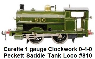 Carette 1 gauge 0-4-0 Peckett Saddle Tank Loco #810 Clockwork