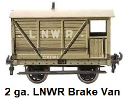 Carette 2 gauge for Bassett-Lowke LNWR Brake Van