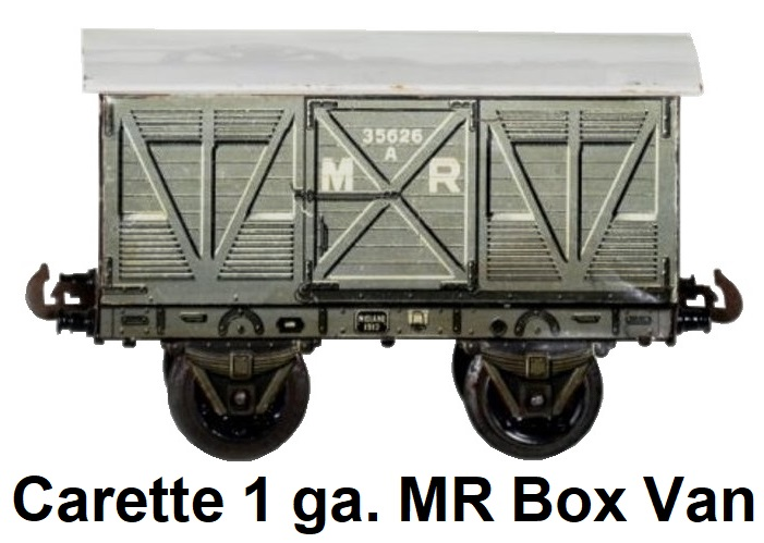 Carette 1 gauge 13470/1 Midland Railway box van goods wagon