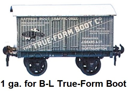 Carette 1 gauge for Bassett-Lowke The True-Form Boot Co. box van