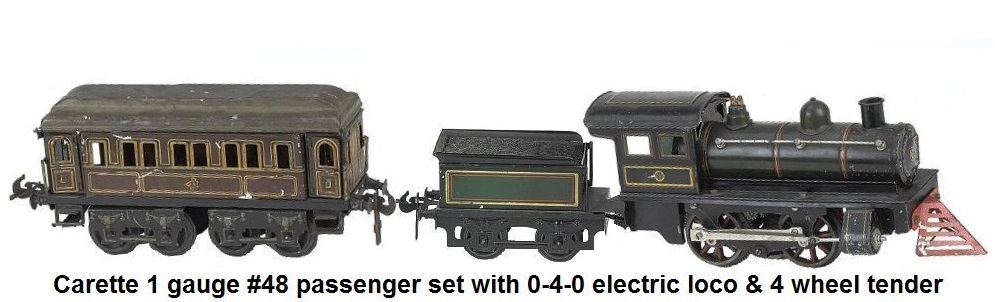 Carette 1 gauge #48 passenger set