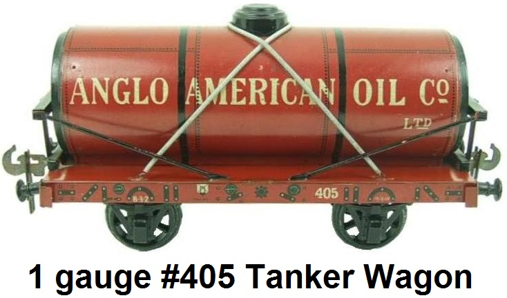 Carette 1 gauge Anglo-American Co. Ltd. Tanker Wagon #405