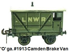 Carette 'O' gauge #1913 Camden brake van
