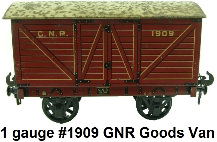 Carette 1 gauge Great Northern Railway Goods Van #1909