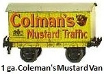 Carette Colemans Mustard Van in 1 gauge