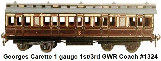Carette 1 gauge 8-wheel passenger coach
