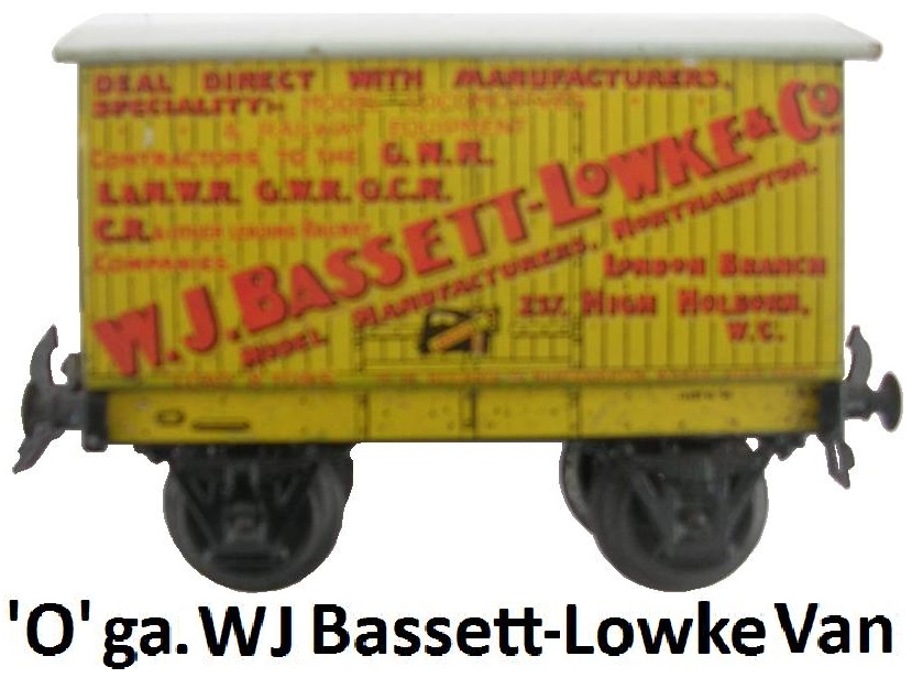 Carette 'O' gauge W.J. Bassett-Lowke & Co. Private Owner Van