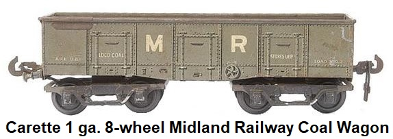 Carette 8-wheel Midland Railway Coal Wagon