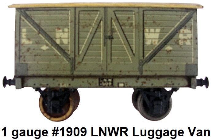 Carette 1 gauge #1909 London & North West Railway Luggage Van