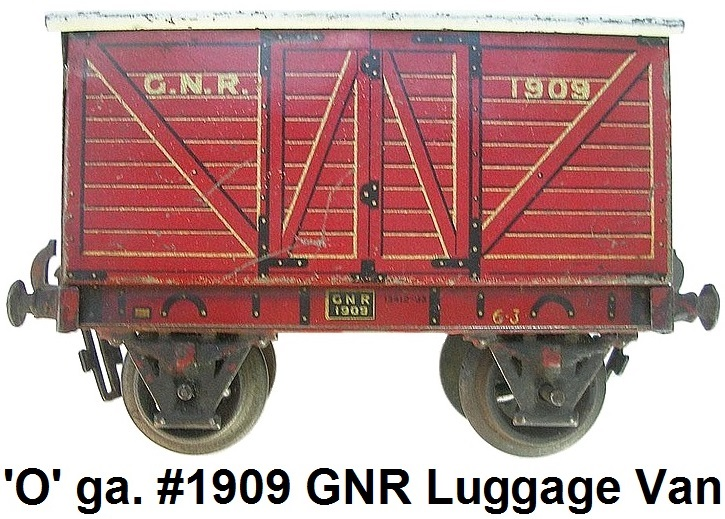 Carette 'O' gauge #1909 Great Northern Railway Luggage Van