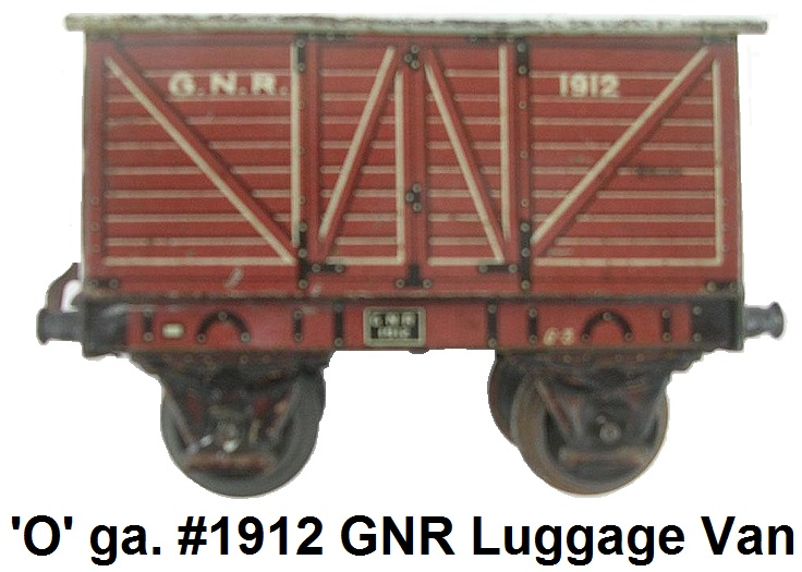 Carette 'O' gauge Great Northern Railway Luggage Van #1912