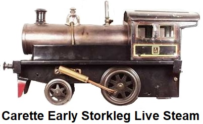 Carette early Storkleg live steam Locomotive