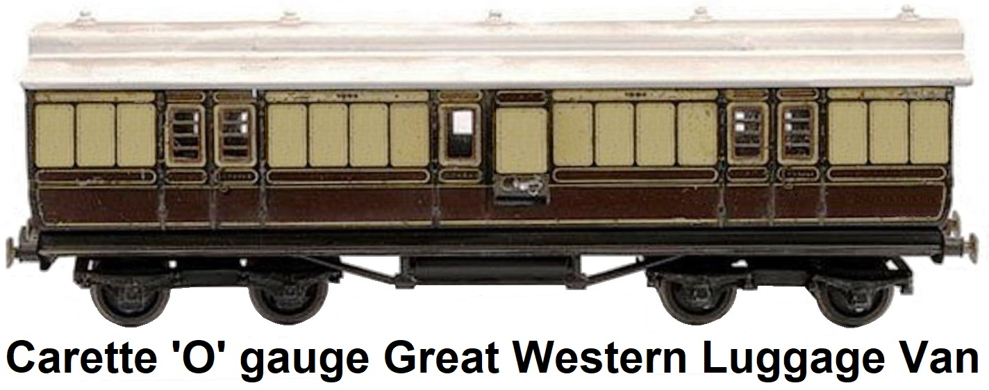 Carette 'O' gauge Great Western Luggage Van