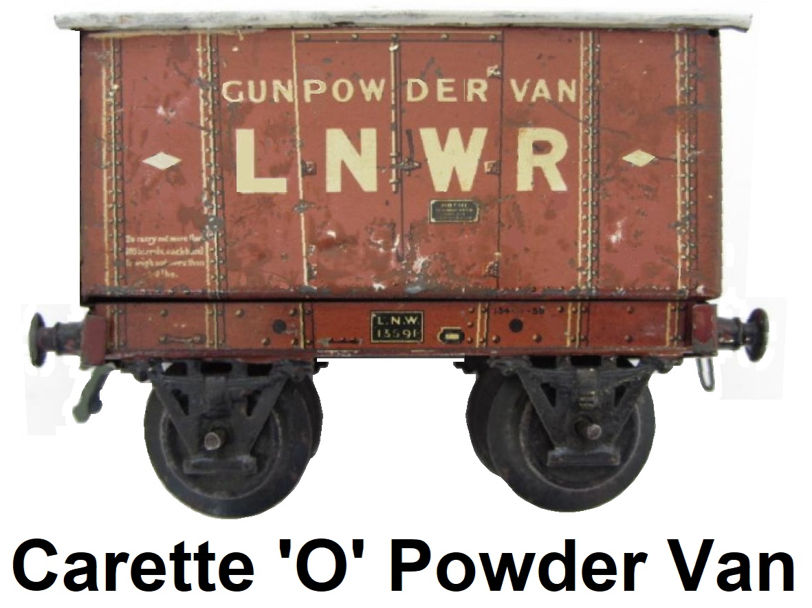 Carette 'O' gauge London & North West Railway Gunpowder Van